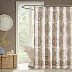 Madison Park Tangiers Shower Curtain in Taupe
