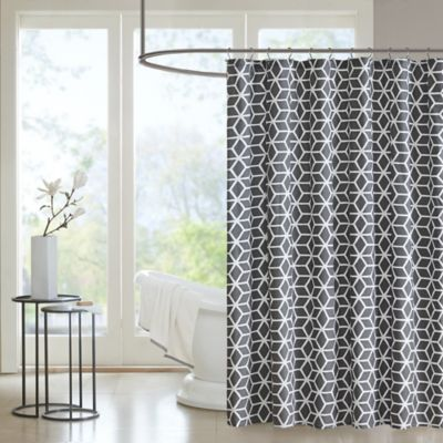 Madison Park Pure Alexa Aqua Shower Curtain In Grey