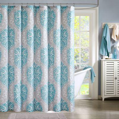Intelligent Design Senna Shower Curtain In Aqua