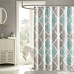 Madison Park Claire Shower Curtain in Aqua