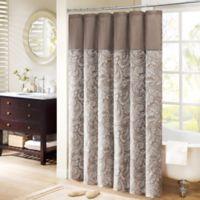 Madison Park Aubrey Jacquard 72-Inch x 72-Inch Shower Curtain in Brown