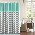 Intelligent Design Nadia Shower Curtain in Teal