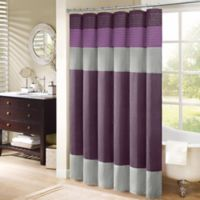 "Madison Park Amherst 72"" x 72"" Shower Curtain in Purple"