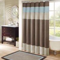 "Madison Park Amherst 72"" x 72"" Shower Curtain Blue"