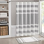 Madison Park Spa Waffle Shower Curtain in Grey