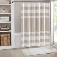 Madison Park Spa Waffle Shower Curtain in Taupe