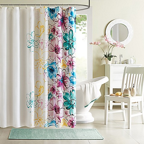 Intelligent design olivia shower curtain bed bath beyond - Intelligent shower ...