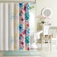 Intelligent Design Olivia Shower Curtain in Blue