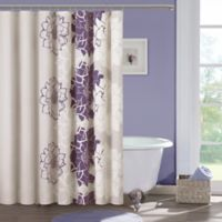 Madison Park Lola Cotton Shower Curtain In Purple