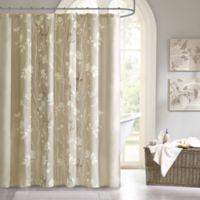 Madison Park Essentials Vaughn Shower Curtain in Taupe