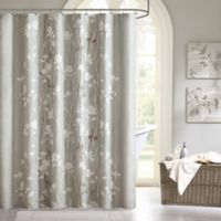 Madison Park Essentials Vaughn Shower Curtain in Grey