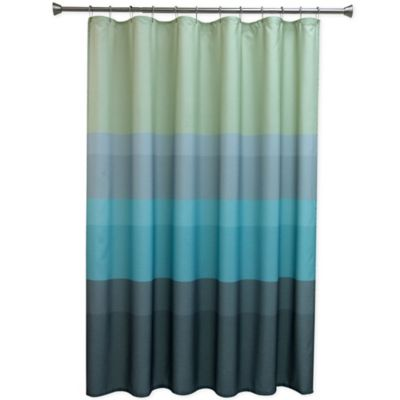 Perfect Bacova Textured Layers Cool Shower Curtain In Blue With Unique