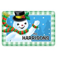 Weather Guard™ 17.5-Inch x 26.5-Inch Waving Snowman Holiday Door Mat