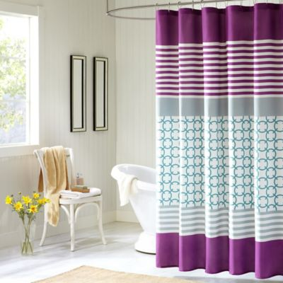 purple and grey shower curtain. Intelligent Design Halo Shower Curtain in Purple Buy Curtains from Bed Bath  Beyond