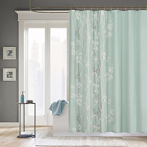 Madison Park Athena Microfiber Shower Curtain Bed Bath