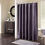 Madison Park Audrina Polyester Shower Curtain in Plum
