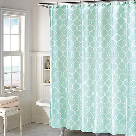 langley shower curtain in mint bed bath beyond