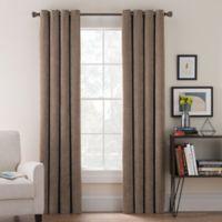 Morgan Corduroy 84-Inch Grommet Top Window Curtain Panel in Mocha
