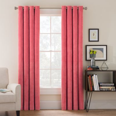 Buy Coral Grommet Curtain Panels from Bed Bath & Beyond