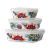 French Bull Gala Porcelain Storage Containers (Set of 3)