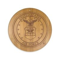 Totally Bamboo U.S. Air Force 12-Inch Round Bamboo Serving Board