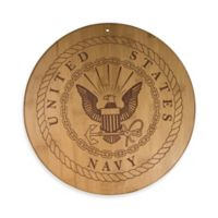 Totally Bamboo U.S. Navy 12-Inch Round Bamboo Serving Board