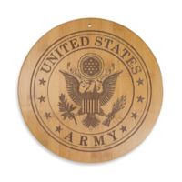Totally Bamboo U.S. Army 12-Inch Round Bamboo Serving Board