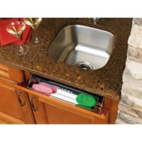 Rev-A-Shelf® 28-Inch Stainless Steel Sink Front Tip-Out Tray