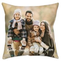 Photo Upload Waterproof 16-Inch Square Outdoor Throw Pillow in Green