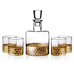 Fitz and Floyd® Daphne 5-Piece Small Whiskey Decanter Set in Gold