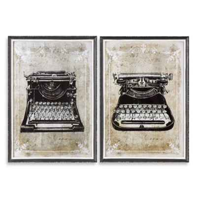 Uttermost Classic Typewriters Framed Wall Art (Set of 2)