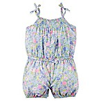 carter's® Size 12M Floral Smock Neck Sleeveless Romper in Blue/Pink