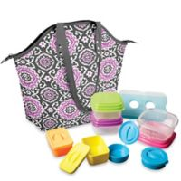 Fit & Fresh Davenport 14-Piece Portion Control Lunch Set w/Davenport Insulated Chiller Bag