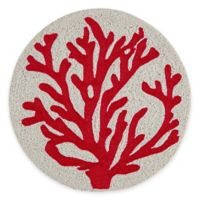 Beaded Coral Placemat in Coral/Ivory