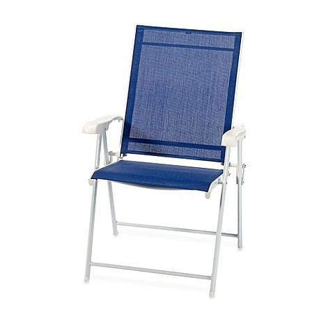 Folding Blue Sling Chair Bed Bath Beyond