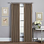 Spellbound Pinch-Pleat 84-Inch Rod Pocket Lined Window Curtain Panel in Mocha