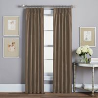 Spellbound Pinch-Pleat 108-Inch Rod Pocket Lined Window Curtain Panel in Mocha