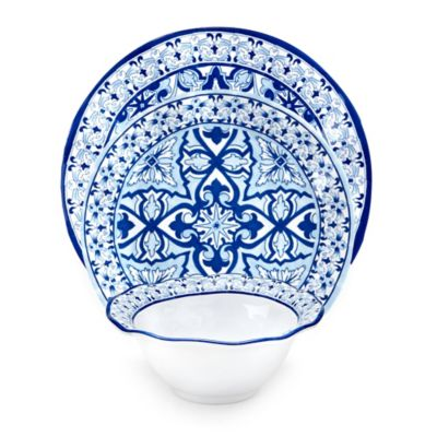 qsquared talavera azul 12piece dinnerware set in whiteblue  sc 1 st  CheckOutEthiopia.Com & Cobalt Blue Dishes. Set Of 4 Antique Sterling Silver Salt Cellar ...