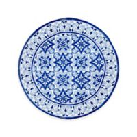 Q-Squared Talavera Azul Platter in White/Blue