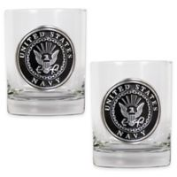 United States Navy Rocks Glasses (Set of 2)