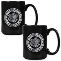 United States Army Coffee Mugs in Black (Set of 2)