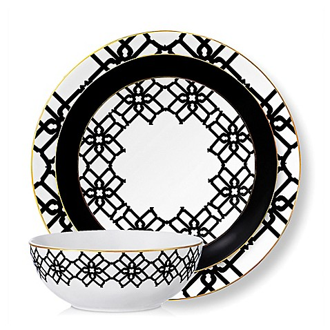 B by Brandie™ Amalfi Dinnerware Collection in Black/White/Gold  sc 1 st  Bed Bath \u0026 Beyond & B by Brandie™ Amalfi Dinnerware Collection in Black/White/Gold - Bed ...