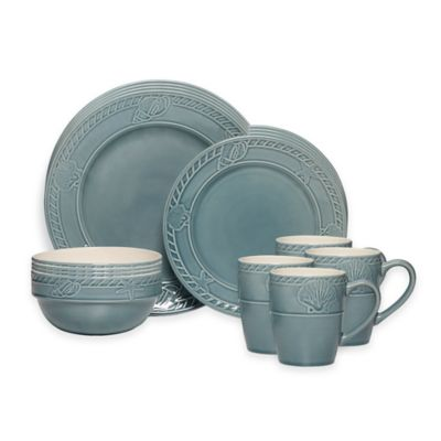 Pfaltzgraff 16-Piece Antigua Blue Dinnerware Set  sc 1 st  Bed Bath u0026 Beyond & Buy Blue Dinnerware 16 Piece Set from Bed Bath u0026 Beyond
