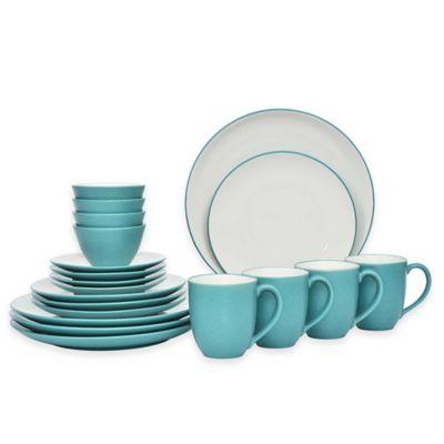 Noritake® Colorwave 20-Piece Coupe Dinnerware Set in Turquoise  sc 1 st  Bed Bath \u0026 Beyond & Buy Turquoise Dinnerware Sets from Bed Bath \u0026 Beyond