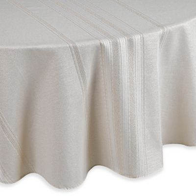 Brilliant Holiday Stripe 70 Inch Round Tablecloth