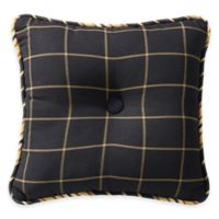 HiEnd Accents Windowpane Tufted Square Throw Pillow