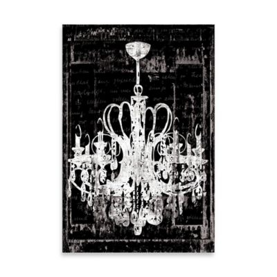 Buy distressed chandelier canvas wall art from bed bath beyond distressed chandelier canvas wall art in black aloadofball Image collections