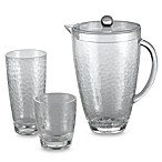 Hammered Clear Acrylic 2 1/2-Quart Pitcher