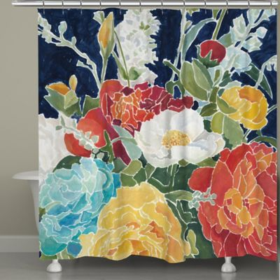 Laural Home® Midnight Floral Shower Curtain