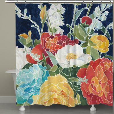 Orange Floral Shower Curtain. Laural Home  Midnight Floral Shower Curtain Buy Bath Curtains from Bed Beyond